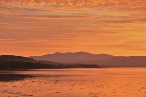 Beinn a Bha'ach Ard from the Beauly Firth - sunset