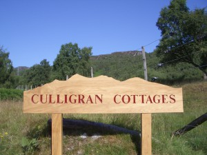 Culligran Cottages sign