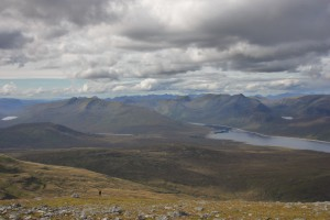 From Sgurr na Lapaich looking down on Loch Monar
