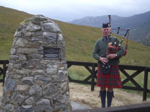 Glen Strathfarrar - Pipe Major Willie Ross Memorial Cairn 1